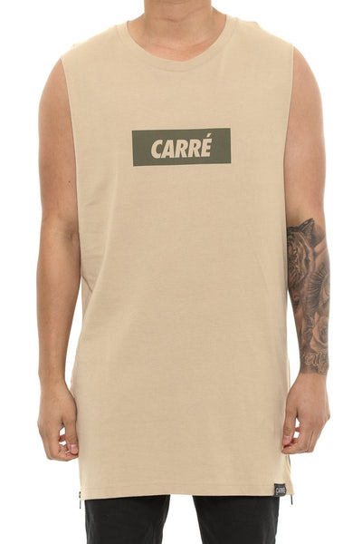 Carré incline Capone 2 Muscle Tee Stone