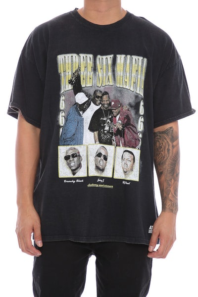 American Thrift Three Six Mafia Vintage Tee Black