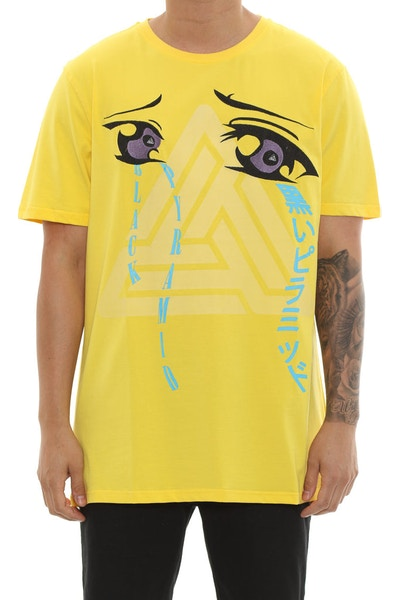Black Pyramid She Cries Tee Yellow