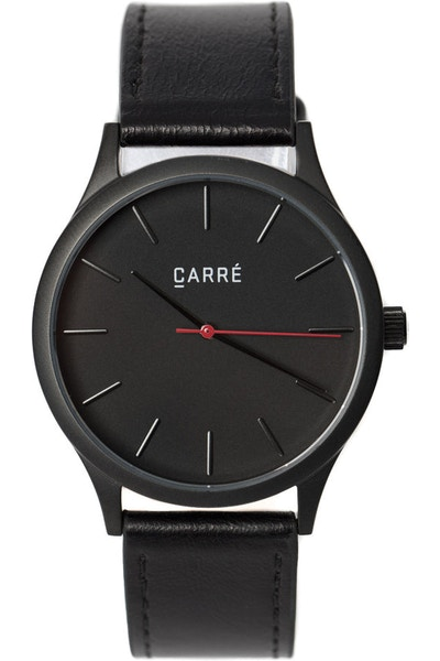 Carré King Louis Leather 40MM Black/Black
