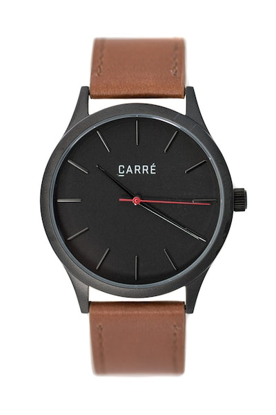 Carré King Louis Leather 40MM Black/Tan