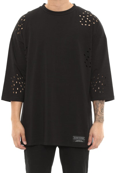 Kloude Clothing Atlas 3/4 Sleeve Tee Black