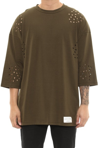 Kloude Clothing Atlas 3/4 Sleeve Tee Forest Green