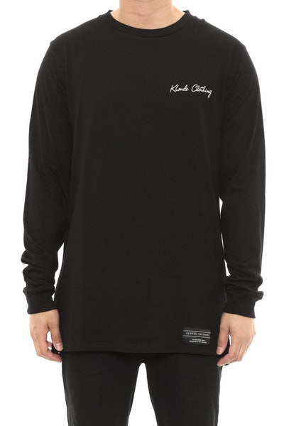 Kloude Clothing Grizzly Long Sleeve Tee Black