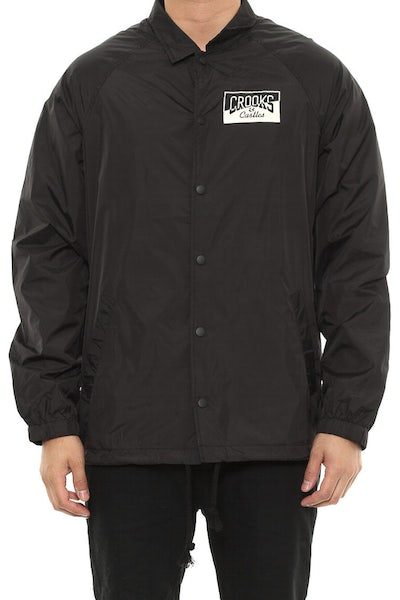 Crooks & Castles Fragment Medusa Coaches Jacket Black