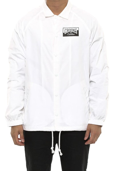 Crooks & Castles Fragment Medusa Coaches Jacket White
