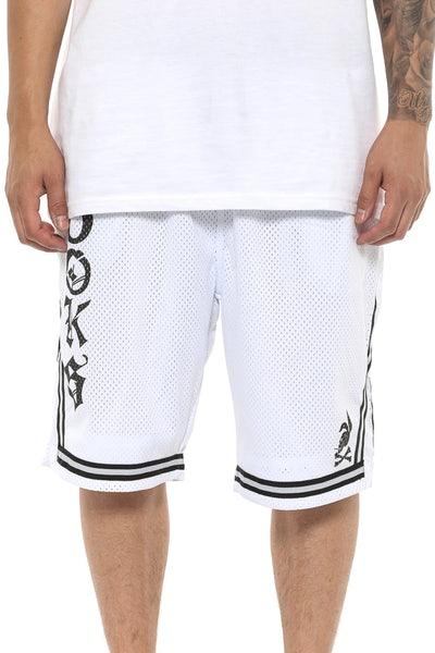 Crooks & Castles HEF Basketball Shorts White