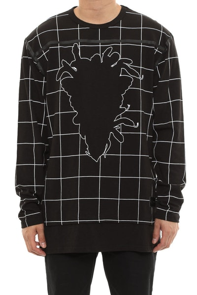 Blotter Long Sleeve Crew Top Black