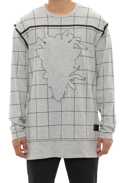 Blotter Long Sleeve Crew Top Grey