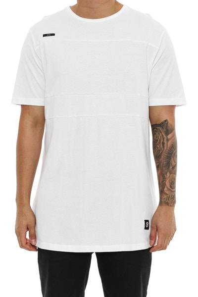 Shaun Johnson The Lined Out Tee White