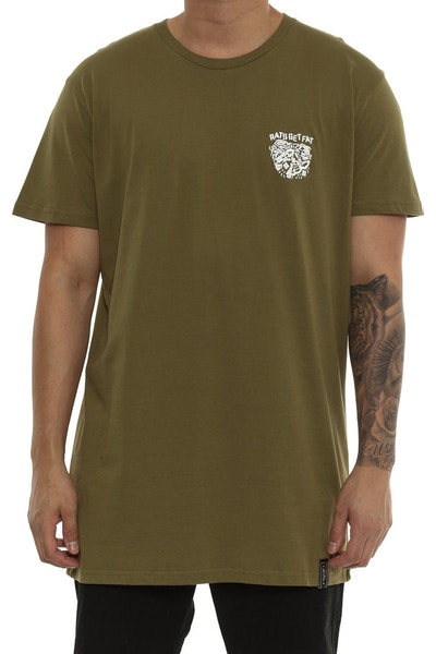 Rats Get Fat Midnight Tee Army Green