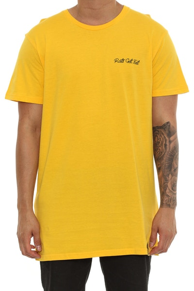 Rats Get Fat Native Tee Yellow
