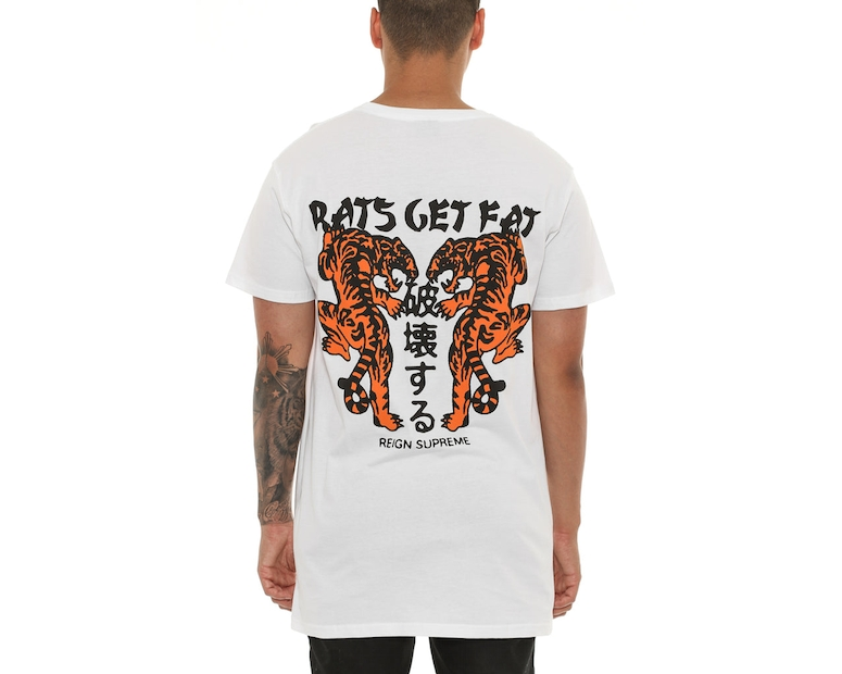 Rats Get Fat Reign Supreme Tee White