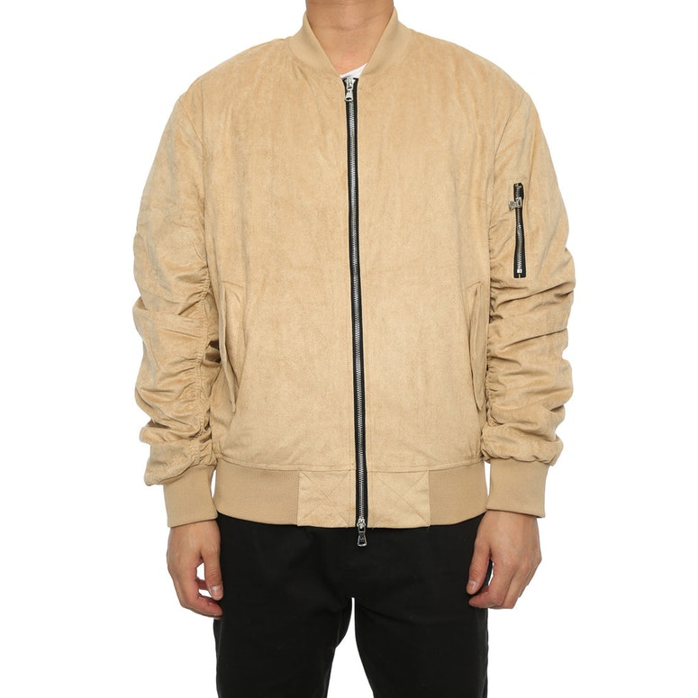 Lifted Anchors Suede Bomber Jacket Tan – Culture Kings
