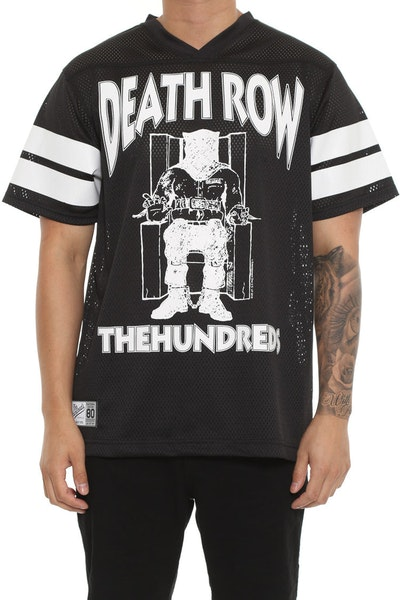The Hundreds X Death Row Records Death Row Football Jersey Black