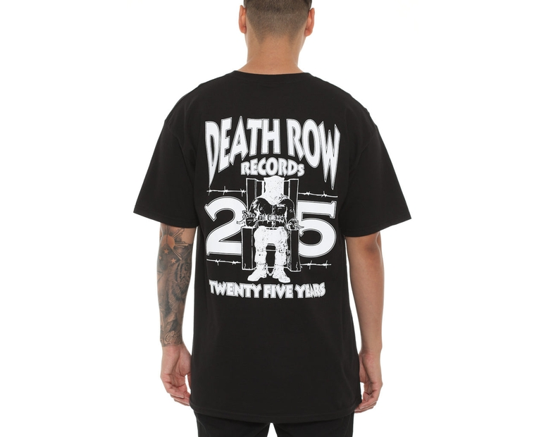 The Hundreds X Death Row Records Death Row 25th Tee Black