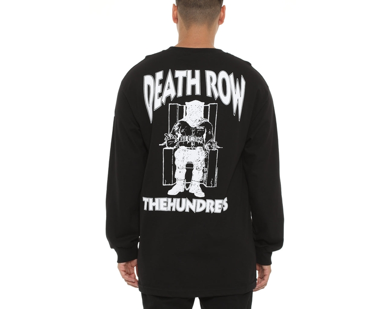The Hundreds X Death Row Records Death Row Long Sleeve Tee Black