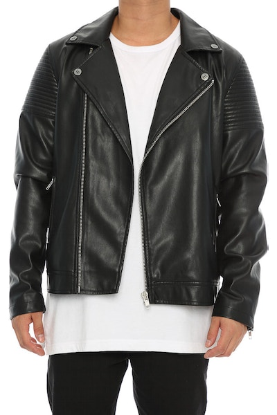 Saint Morta Bones Biker Jacket Black