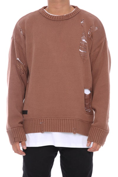 Saint Morta Fallen Distressed Sweater Brown