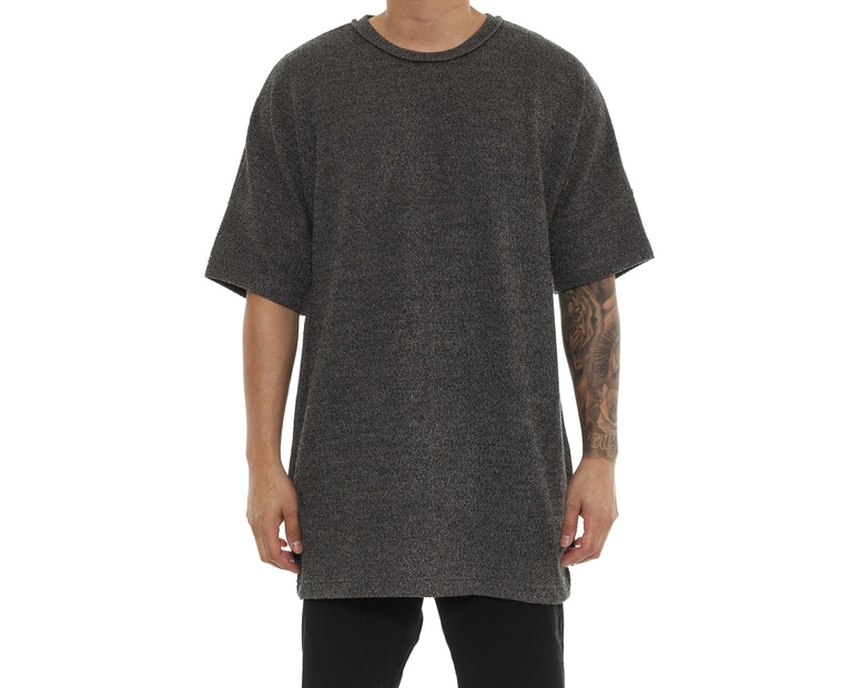 Detache Labs Vulpes Off Shoulder Tee Charcoal