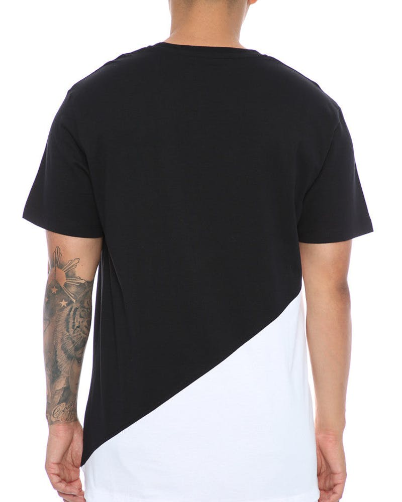 Carré Diagonal Panel 2.0 SS Tee Black/White