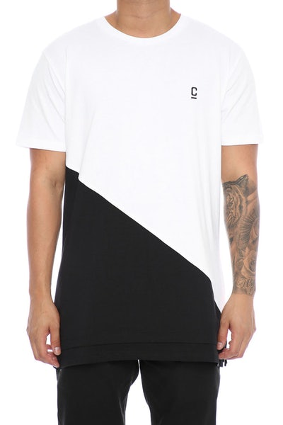 Carré Diagonal Panel 2.0 SS Tee White/Black