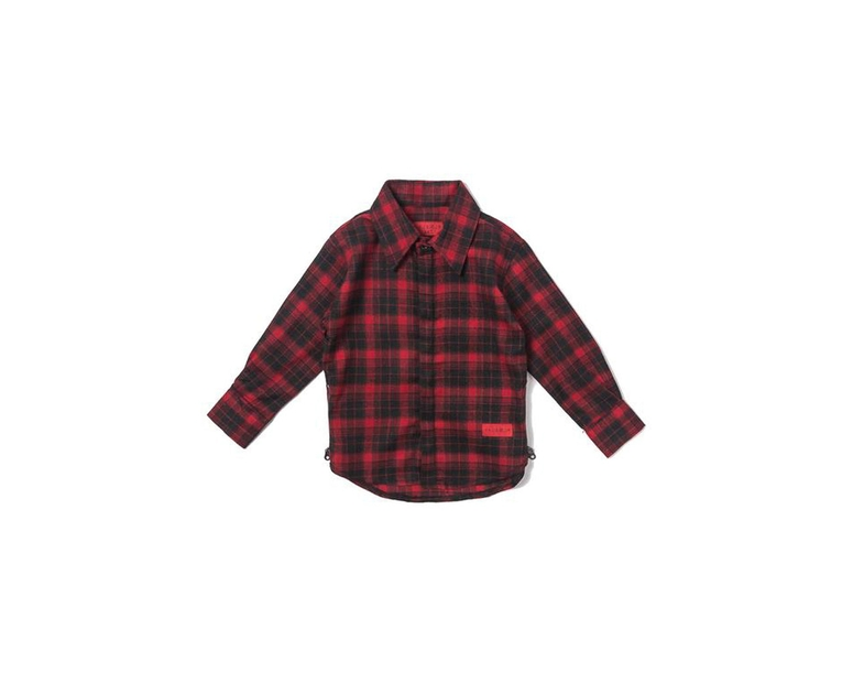 Haus of JR Chris L/S Flannel Black/Red