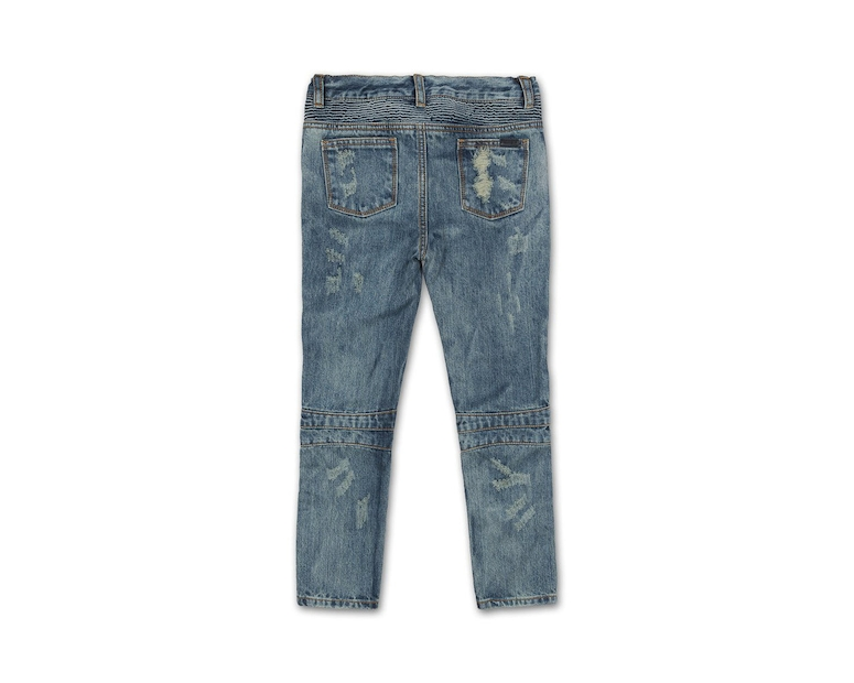 Haus of JR Clayton Distressed Biker Denim Blue