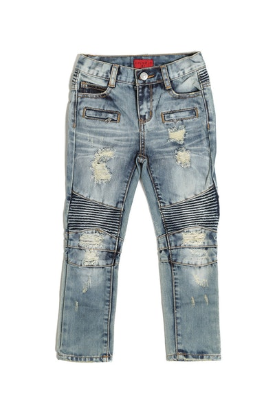 Haus of JR Clayton Biker Denim Blue/Gold