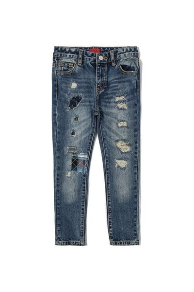 Haus of JR Marcy Distressed Denim Jean Indigo