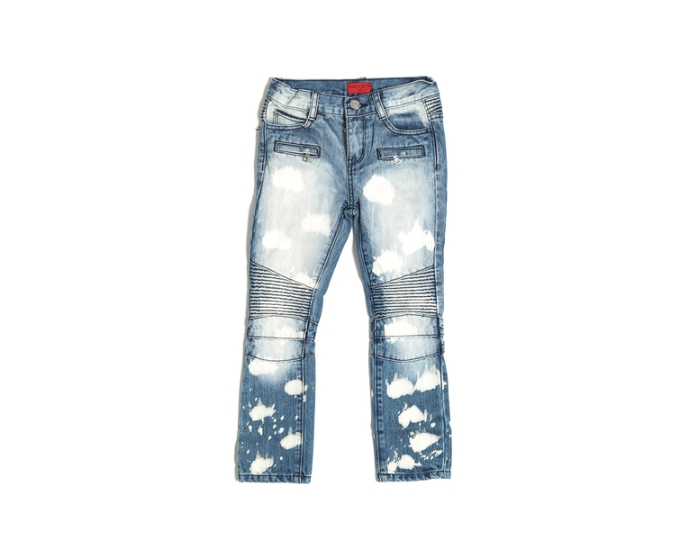 Haus of JR Clayton Biker Denim Medium Blue