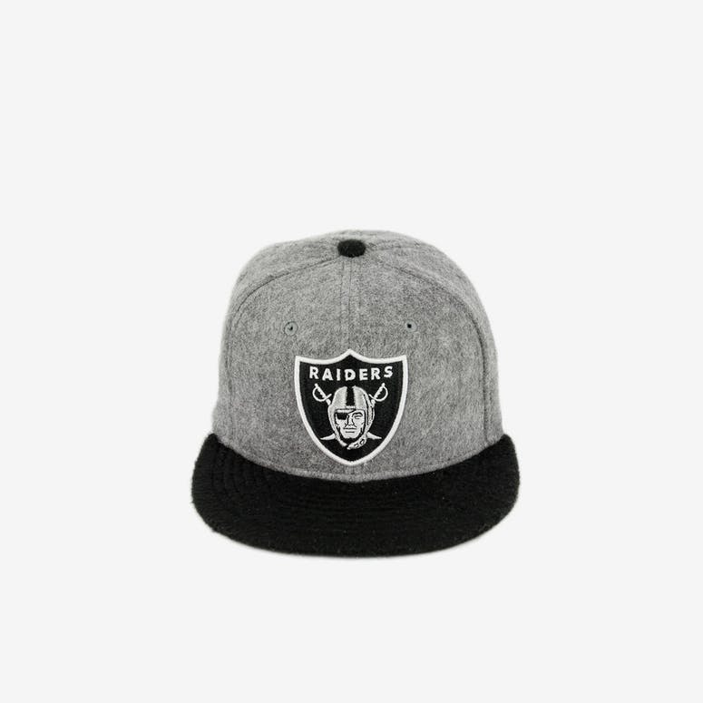 0ec11066a0d New Era 59Fifty Oakland Raiders Wool Blend Grey Black – Culture Kings