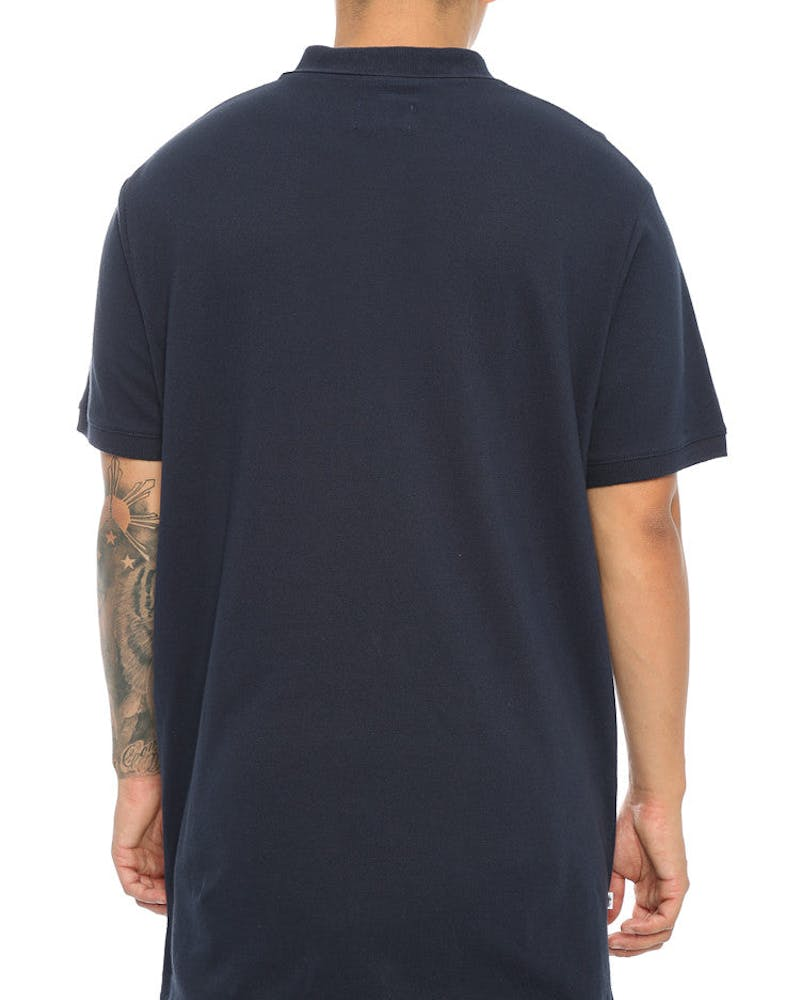 Stussy Cities SS Polo Tee Navy