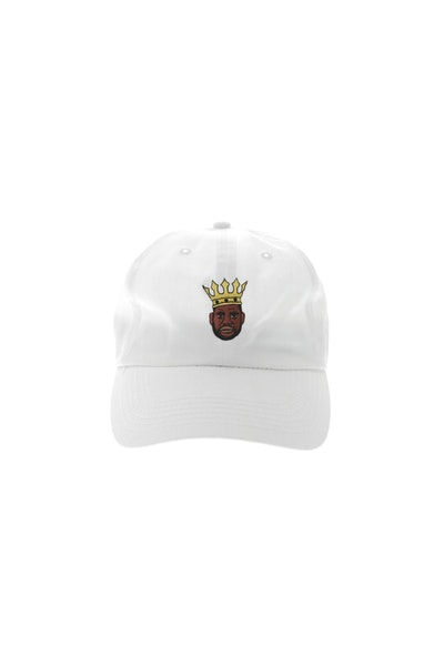 Goat Crew King LeBron Mini Head Strapback White