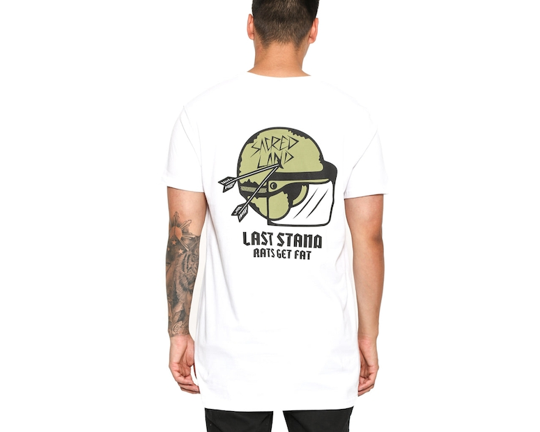 Rats Get Fat Last Stand Sacred Land Tee White