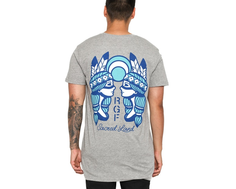 Rats Get Fat Sacred Lands Tee Grey