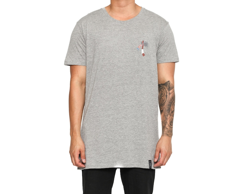 Rats Get Fat Freedom Sacred Land Tee Grey
