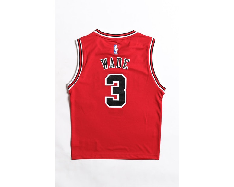 Adidas Performance Chicago Bulls Dwayne Wade Youth Jersey Red
