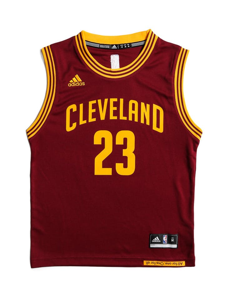 info for f0216 0b0b9 Adidas Performance Cleveland Cavaliers LeBron James Youth Jersey Burgundy