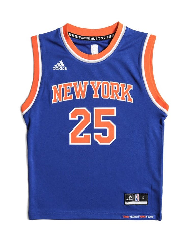 98128804457 Adidas Performance New York Knicks Derrick Rose Youth Jersey Blue – Culture  Kings