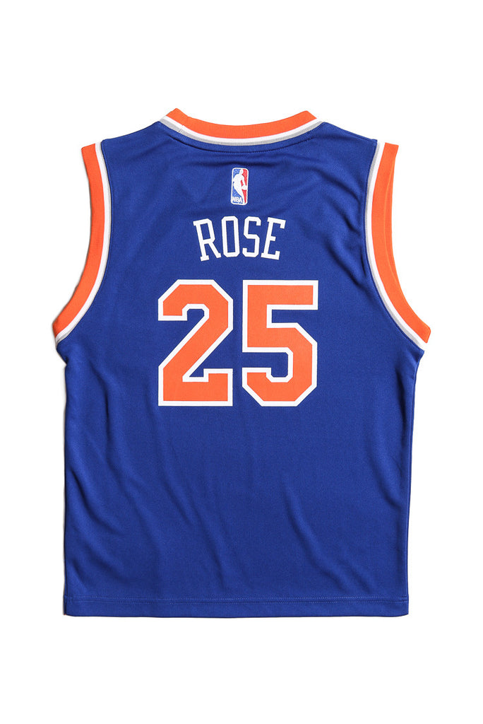 ... Icon Edition ... adidas performance new york knicks derrick rose youth jersey  blue ... 5b59b8632