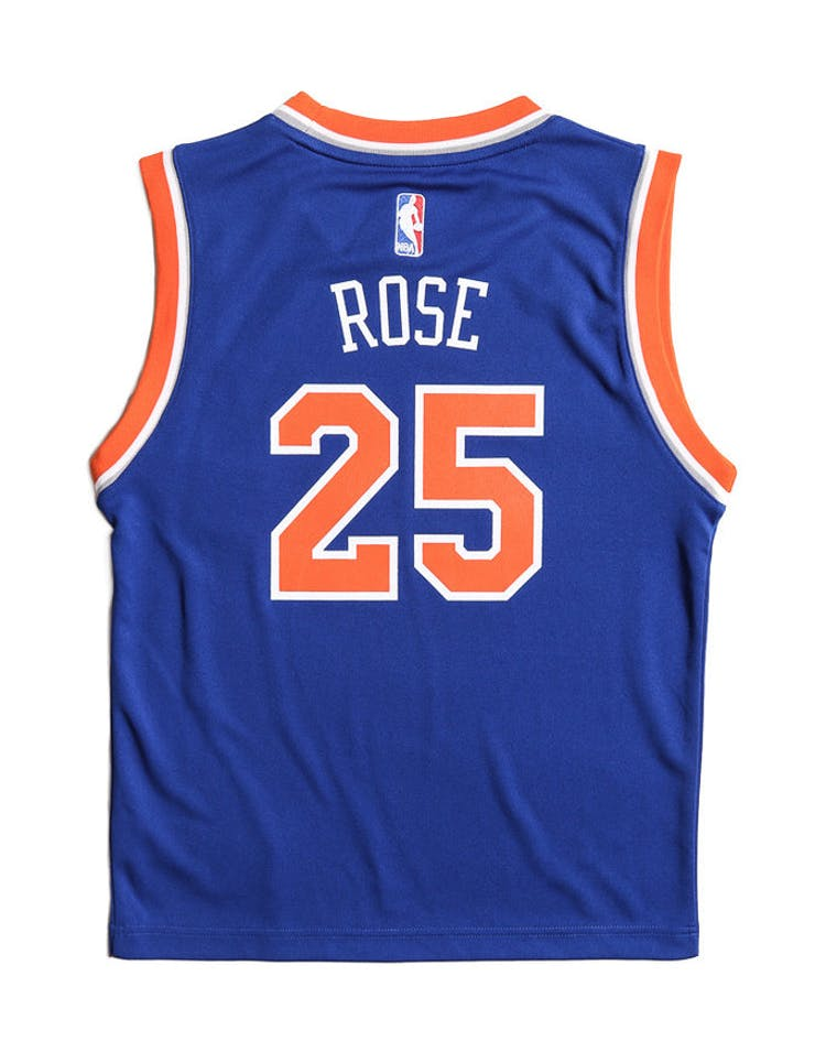 quality design 29325 889fd Adidas Performance New York Knicks Derrick Rose Youth Jersey Blue