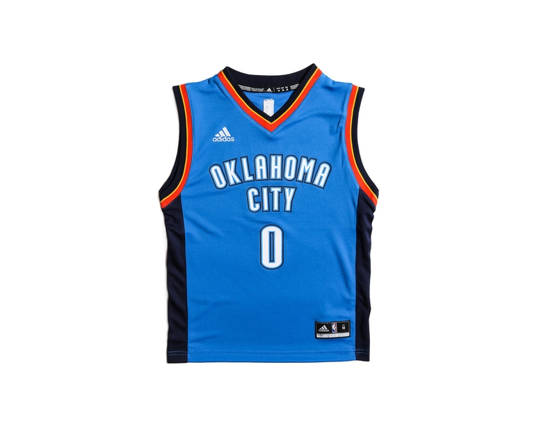 Adidas Performance OKC Thunder Russell Westbrook Youth Jersey Blue