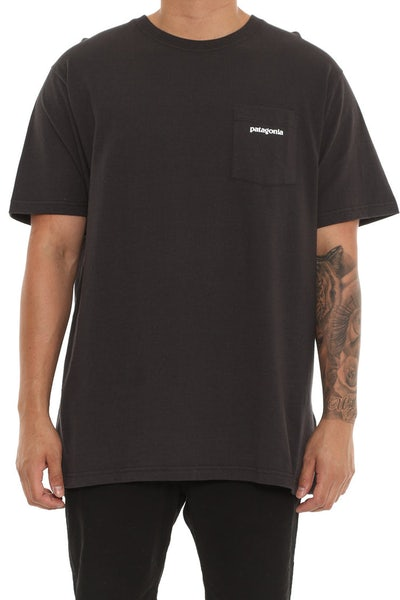 Patagonia P6 Pocket Logo Tee Black