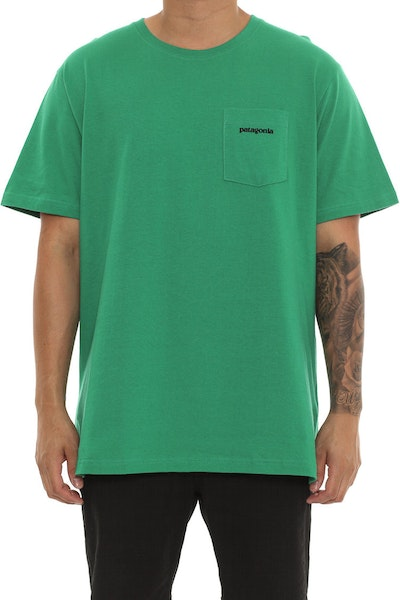Patagonia P6 Pocket Logo Tee Green