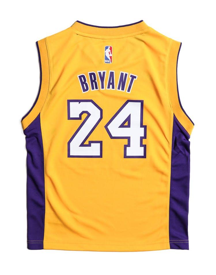 the latest b623a b4643 Adidas Performance LA Lakers Kobe Bryant Youth Jersey Yellow