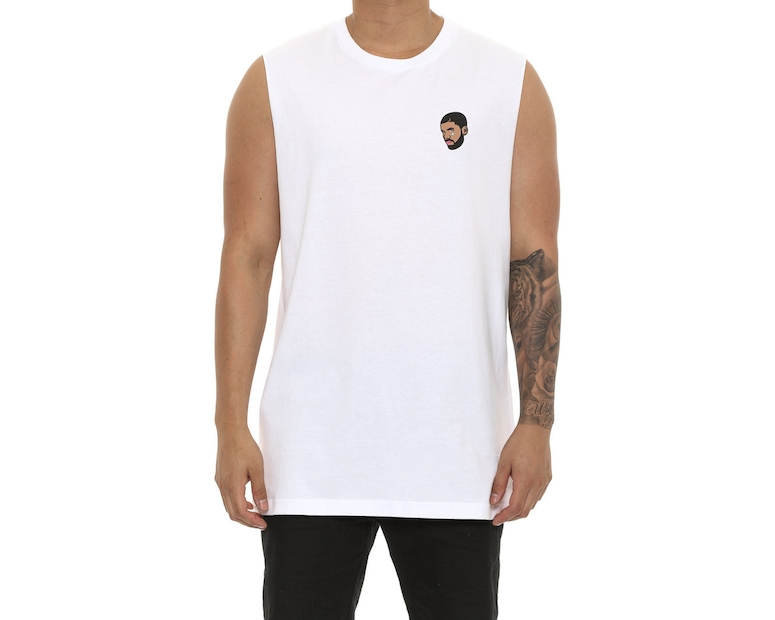 Goat Crew 6Woes Muscle Tee White
