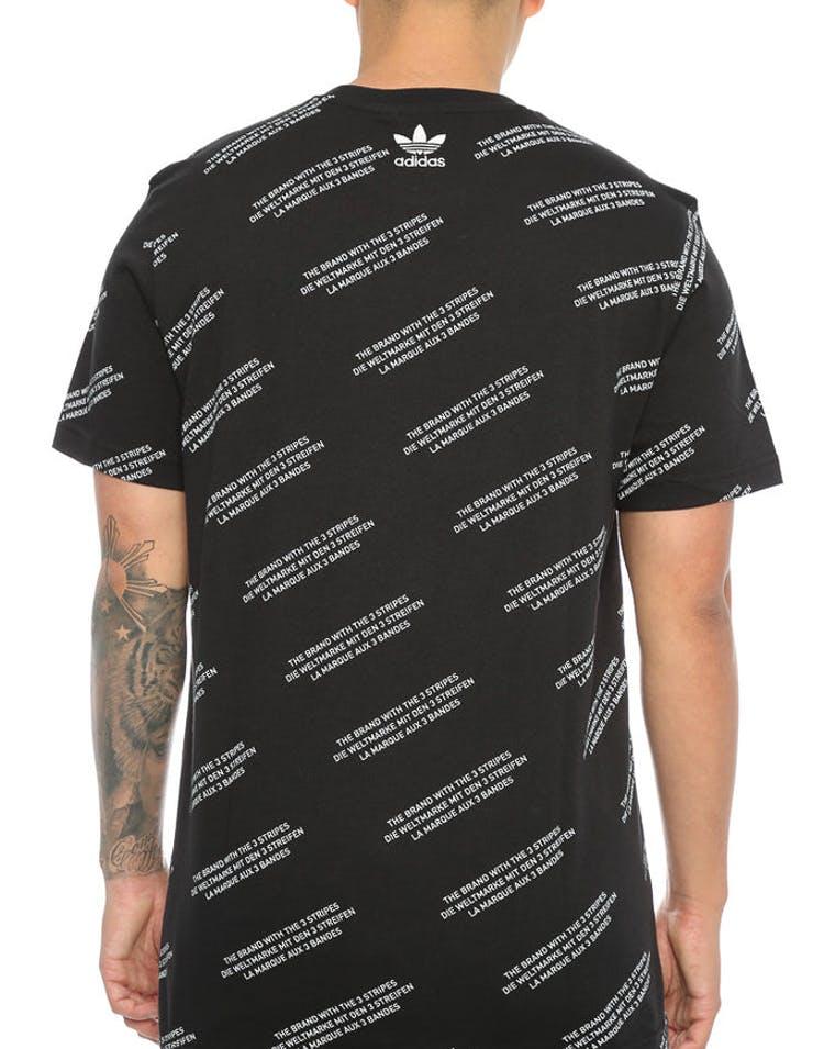 26062ff2dff Adidas Originals ALLOVER PRINT WORD TEE Black – Culture Kings