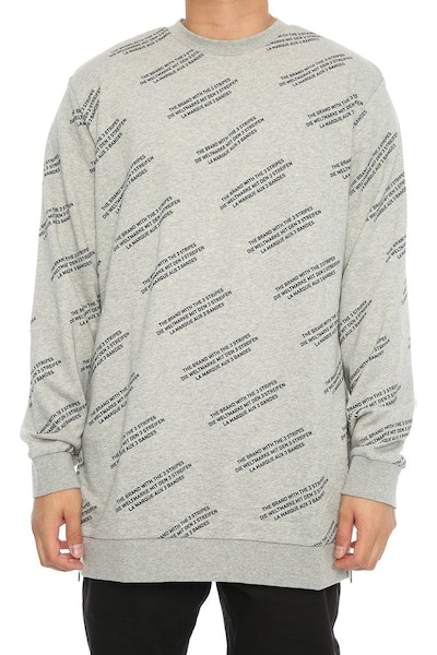Adidas Originals ALLOVER PRINT WORD CREW Grey