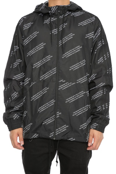 Adidas Originals ALLOVER PRINT WORD WINDBREAKER Black